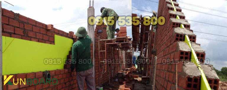 chống nóng tường xây dựng nhà ở