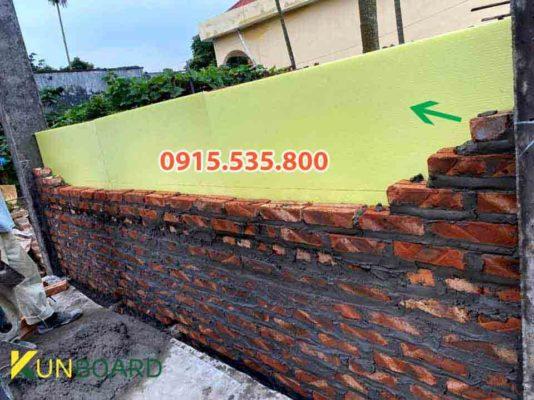 xây nhà xây tường sử dụng xốp xps chống thấm chống nồm nhà
